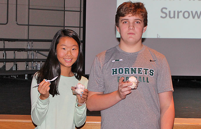 This is an image of the students who created the winning ice cream flavor