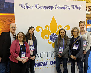 This is an image of six F-M educators at the world language convention