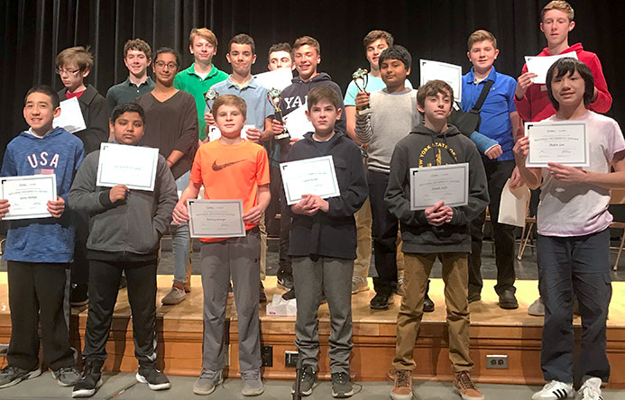This is an image of Wellwood students who participated in the geography bee