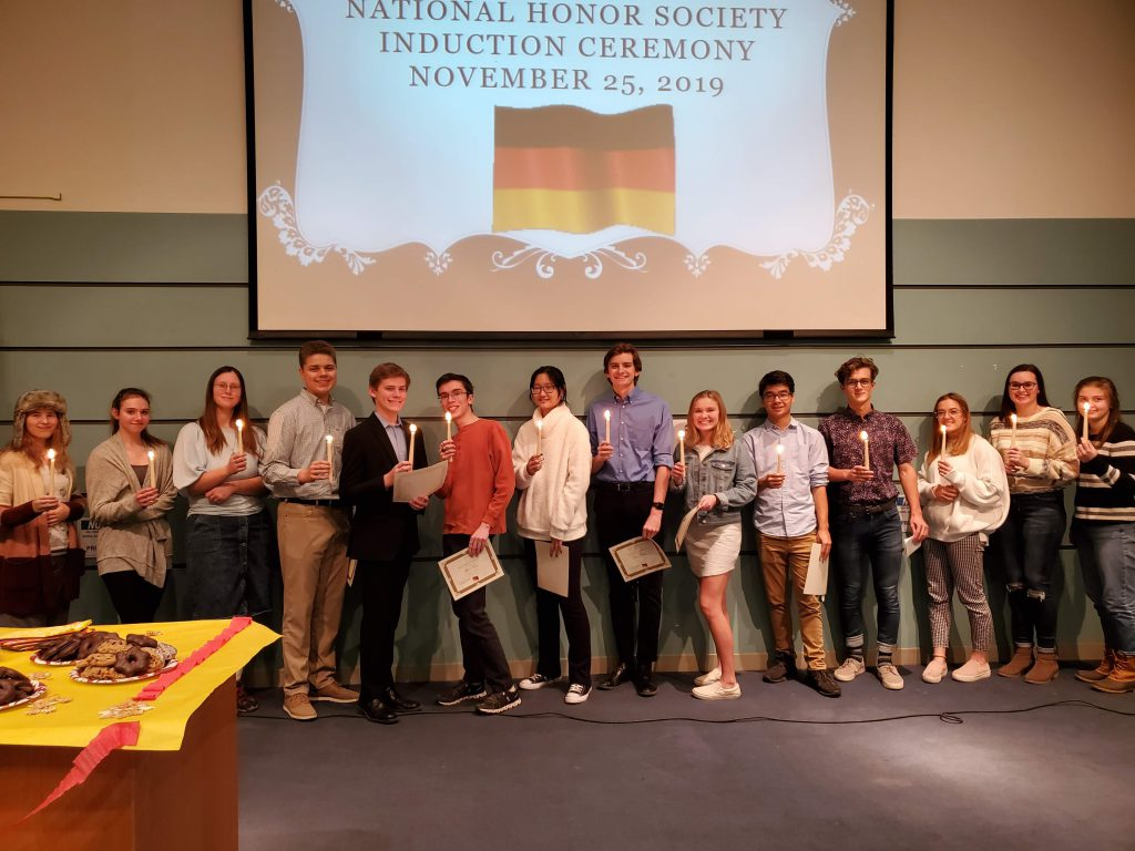 This is an image of students in German Honor Society