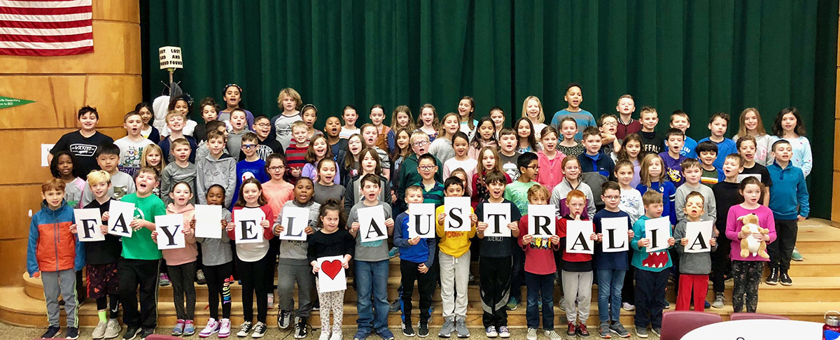 This is a group photo of Fayetteville Elementary School third grade students.