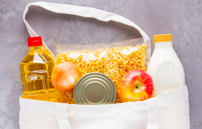 This is an image of a bag containing food items
